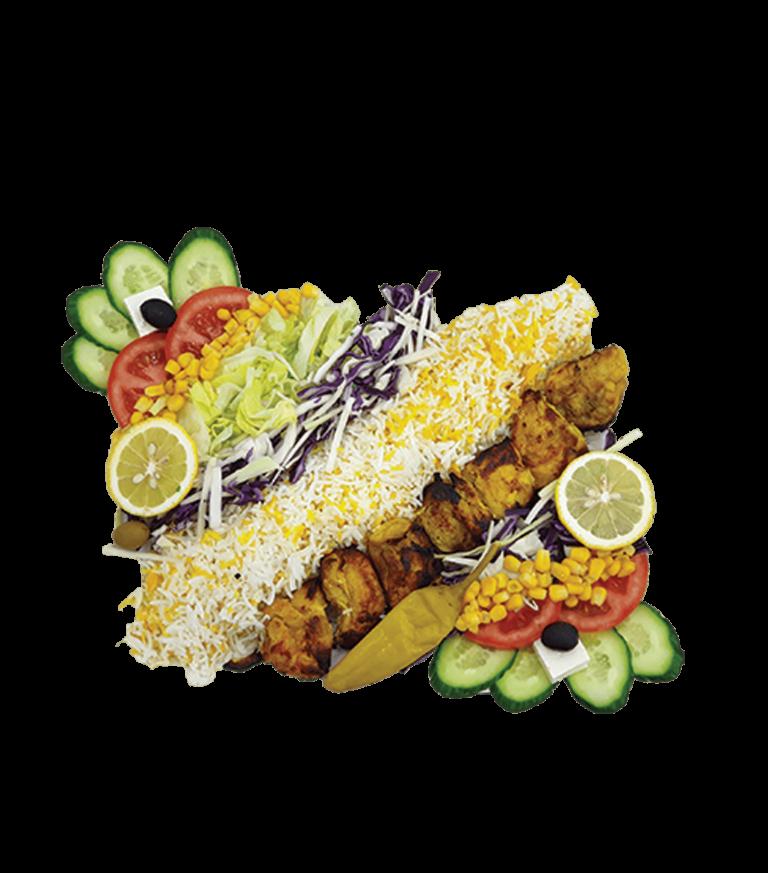 Hähnchen Kebab Mit Reis - Barbecue